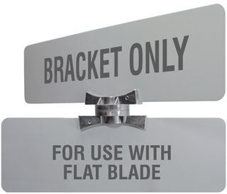 Adjustable Cross Separator For Flat Blade Street Name Signs