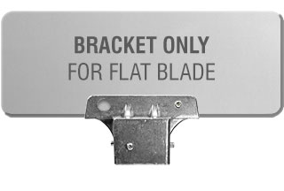 "1-3/4"" Square Post Flat Blade Street Name Sign Bracket"