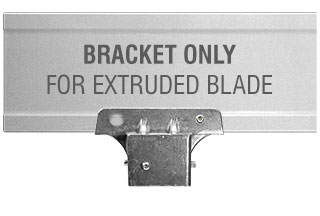 "2"" Square Post Extruded Blade Street Name Sign Bracket"
