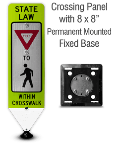 Yield To Pedestrians In-Street Sign with Fixed Base