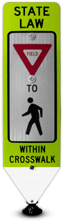 State Law Yield to Pedestrians Crossing Panel