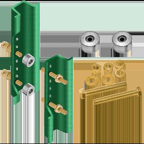 Green Enamel U-Channel Breakaway System