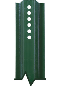 3' U-Channel Anchor Posts Green Enamel and Galvanized