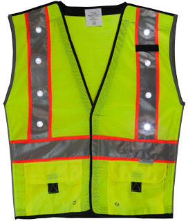 LED Vest Fluorescent Yellow/Green