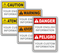 ANSI Bilingual Danger-Peligro Signs