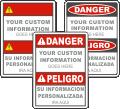 Custom Bilingual ANSI Z535 Safety Sign