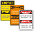OSHA Bilingual Danger-Peligro Signs