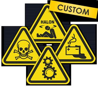 Custom ISO Hazard Symbol Label