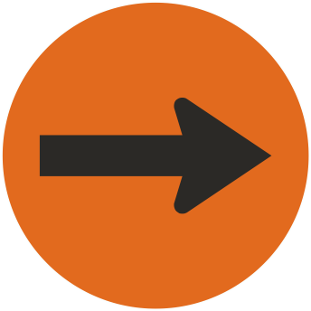 Orange / Black Plastic Engraved Arrow