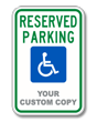 Custom Handicapped Reserved Parking