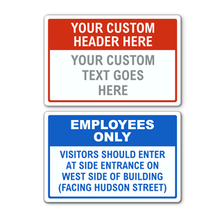 White Custom Facility Sign