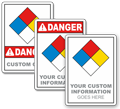 Custom NFPA 704 Safety Sign