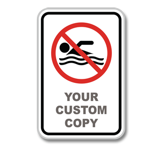 Custom No Swimming