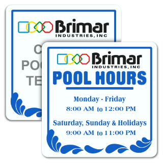 Pool Signs - Recreation Area Signs, Swimming and Pool Signs, F6942