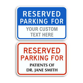 Custom Reserved Parking Sign in Red