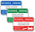Custom Reserved Parking (Red)