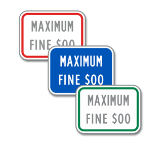 Custom Handicapped Maximum Fine