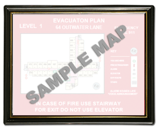 "8-1/2 x 11"" Economical Plastic Evacuation Map Holder"