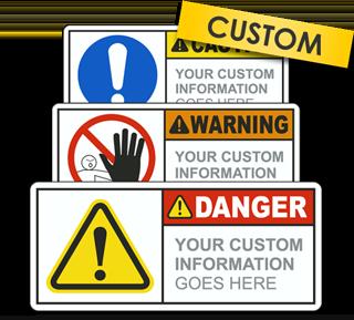 Custom ANSI Z535.4 & ISO 3864-2 Safety Label