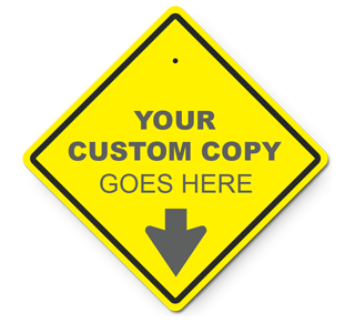 Custom Diamond Traffic Sign (Yellow)