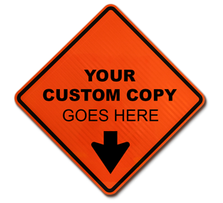 Custom Diamond Traffic Sign (Orange)