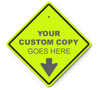 Custom Diamond Traffic Sign (Yellow-Green)