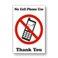 Cell Phones Prohibited Signs with Effective Messages