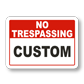 Easy Design of Your Custom Property Signs