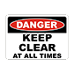 Large Selection of Keep Area Clear Signs