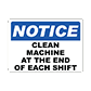 Large Variety of Machinery Operation Signs