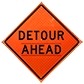 Highly Visible Detour Ahead Signs