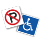 Massive Selection of Parking Signs