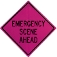 Highly Visible Pink Road Signs