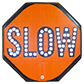 High Visibility Lighted Stop/Slow Paddles