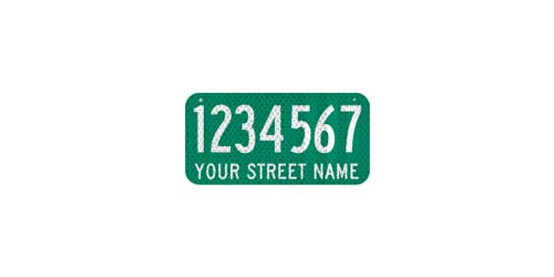 12 x 6 Sign with Street Name