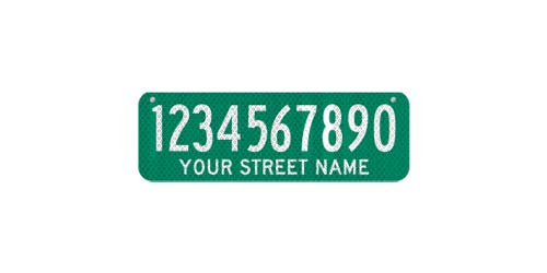 18 x 6 Sign with Street Name