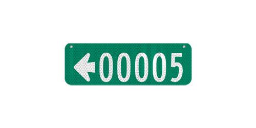 18 x 6 Sign with Arrow