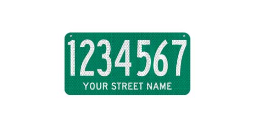 18 x 9 Sign with Street Name