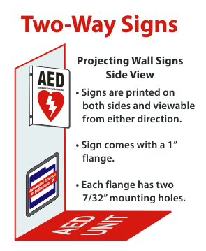 2 Way Sign Projection signs