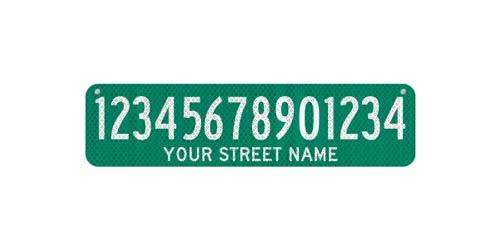 24 x 6 Sign with Street Name