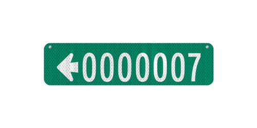 24 x 6 Sign with Arrow