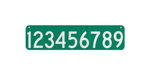 24 x 6 911 Address Sign