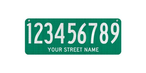 24 x 9 Sign with Street Name
