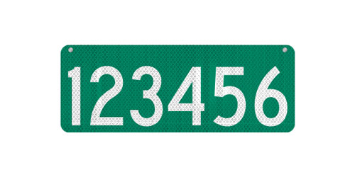 24 x 9 911 Address Sign