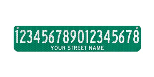 30 x 6 Sign with Street Name