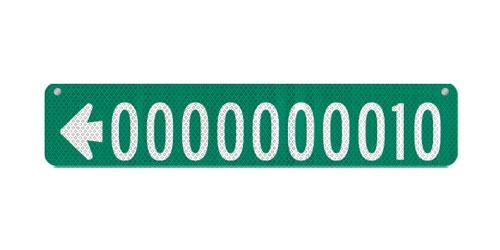 30 x 6 Sign with Arrow