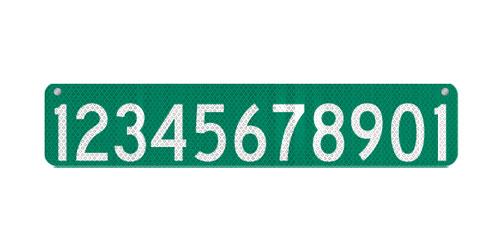 30 x 6 911 Address Sign