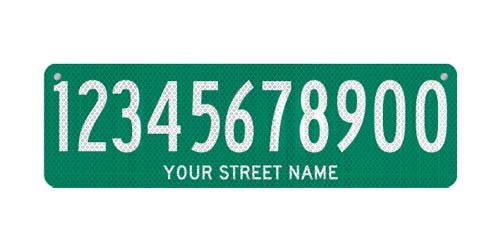 30 x 9 Sign with Street Name