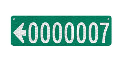 30 x 9 Sign with Arrow