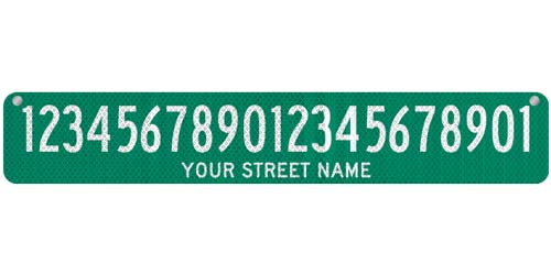36 x 6 Sign with Street Name